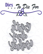 Load image into Gallery viewer, Dies ... to die for metal cutting die - Birth Day Wishes word
