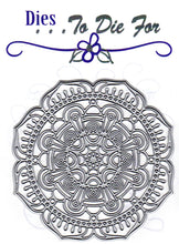 Load image into Gallery viewer, Dies ... to die for metal cutting die - Detailed Deco Flower Circle