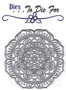 Dies ... to die for metal cutting die - Detailed Deco Flower Circle