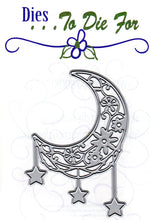 Load image into Gallery viewer, Dies ... to die for metal cutting die - Moon with Hanging stars