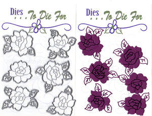Dies ... to die for metal cutting die - Rose set - embossed