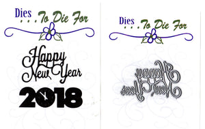 Dies ... to die for metal cutting die - Happy New Year word