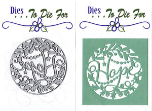Dies ... to die for metal cutting die - Hope and Holly cut in word