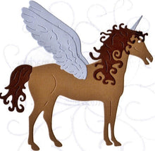 Load image into Gallery viewer, Dies ... to die for metal cutting die - Enchanted horse - Unicorn, Pegasus or a horse