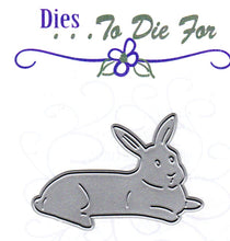Load image into Gallery viewer, Dies ... to die for metal cutting die - Laying Bunny Rabbit