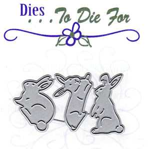 Dies ... to die for metal cutting die - Bunny rabbit trio