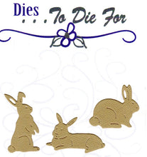 Load image into Gallery viewer, Dies ... to die for metal cutting die - Bunny rabbit trio