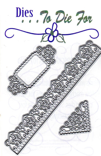Dies ... to die for metal cutting die - Fancy Corner Border and tag set