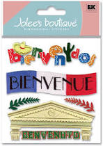 Jolee's Boutique Dimensional Sticker - Welcome non-english