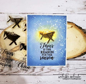 Gina Marie Clear stamp set - Layered manger