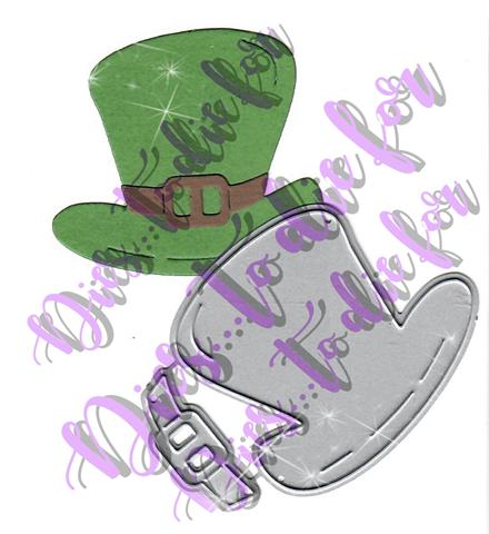 Dies ... to die for metal cutting die - Leprechaun Hat St. Patrick's Day