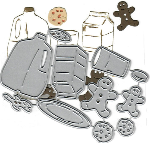 Dies ... to die for metal cutting die - Milk and Cookies - Gingerbread Man