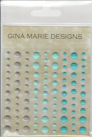 Gina Marie Enamel Dots set - Nautical Ocean Gloss