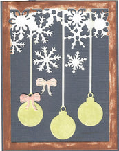 Load image into Gallery viewer, Dies ... to die for metal cutting die - Ornament and Snowflake background plate