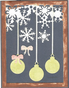 Dies ... to die for metal cutting die - Ornament and Snowflake background plate