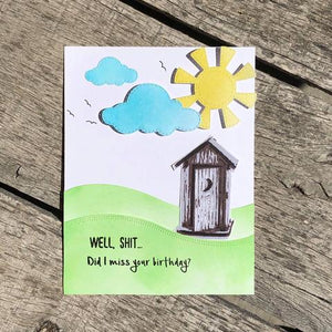 Gina Marie Clear stamp set - Outhouse layered