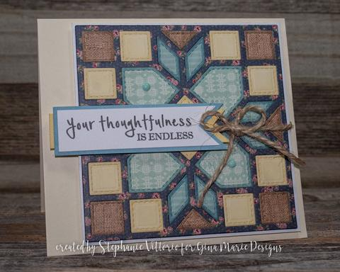 Gina Marie Metal cutting die - QUILT DIE #11 ARROWS AND SQUARES