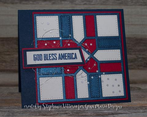 Gina Marie Metal cutting die - QUILT DIE #12 BLOCKS & LINES
