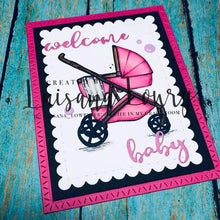 Load image into Gallery viewer, Gina Marie Metal cutting die - welcome baby word