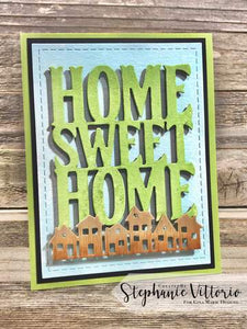 Gina Marie Metal cutting die -  home sweet home