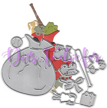 Load image into Gallery viewer, Dies ... to die for metal cutting die - Santa's toy bag with toys