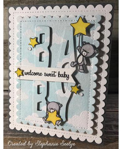 Gina Marie Clear stamp set - Sleepy Bear baby
