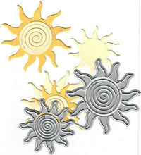 Load image into Gallery viewer, Dies ... to die for metal cutting die - Swirly sun