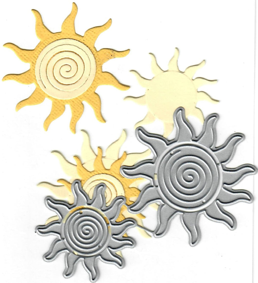 Dies ... to die for metal cutting die - Swirly sun