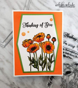Gina Marie Clear stamp set - Sympathy Poppies