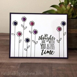 Gina Marie Clear stamp set - Sympathy sentiments