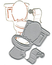 Load image into Gallery viewer, Dies ... to die for metal cutting die - toilet and toilet paper rool