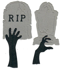 Load image into Gallery viewer, Dies ... to die for metal cutting die - Tombstones / Gravestone & Zombie hands