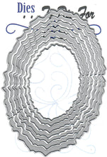 Load image into Gallery viewer, Dies ... to die for metal cutting die - Torn edge oval nesting set