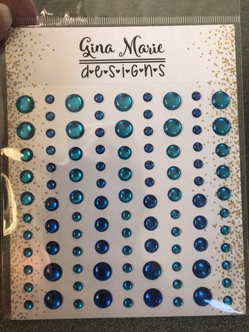 Gina Marie Enamel Dots set - Tycoon Blue Mirrored foil metallic