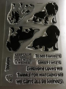 Gina Marie Clear stamp set - Dog - Weiner layered