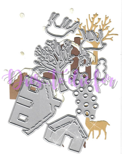 Dies ... to die for metal cutting die - Winter Farmhouse set