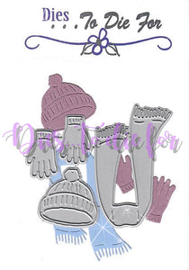 Dies ... to die for metal cutting die Winter Hat, Gloves and Scarf