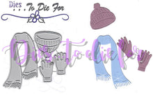 Load image into Gallery viewer, Dies ... to die for metal cutting die Winter Hat, Gloves and Scarf