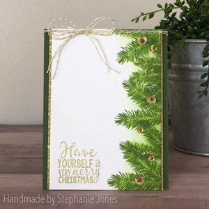 Gina Marie Clear stamp set - Winter Pine layered stamp
