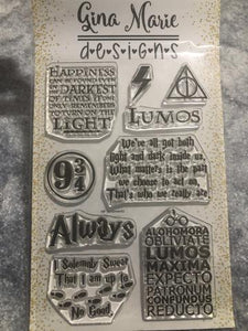 Gina Marie Clear stamp set - Wizard potter theme - Harry