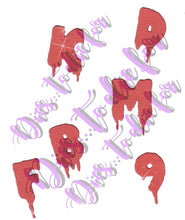 Load image into Gallery viewer, Dies ... to die for metal cutting die - Zachary's Alphabet - Dripping letters