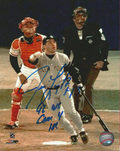 JIM LEYRITZ 1996 WORLD SERIES SIGNED 8X10