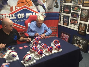 MARV LEVY SIGNED BUFFALO BILLS MINI HELMET