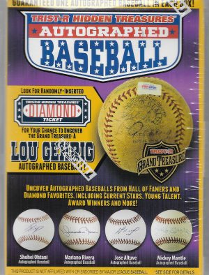 2018 TRISTAR HIDDEN TREASURES AUTOGRAPHED BASEBALL SERIES 10 HOBBY BOX