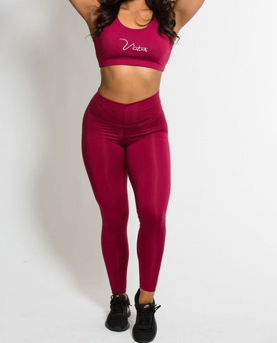 Burgundy Signature Sports Bra