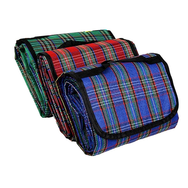 Camping Mat Plaid for Multiplayer Picnic