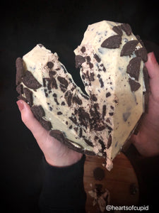 White chocolate and Oreo heart