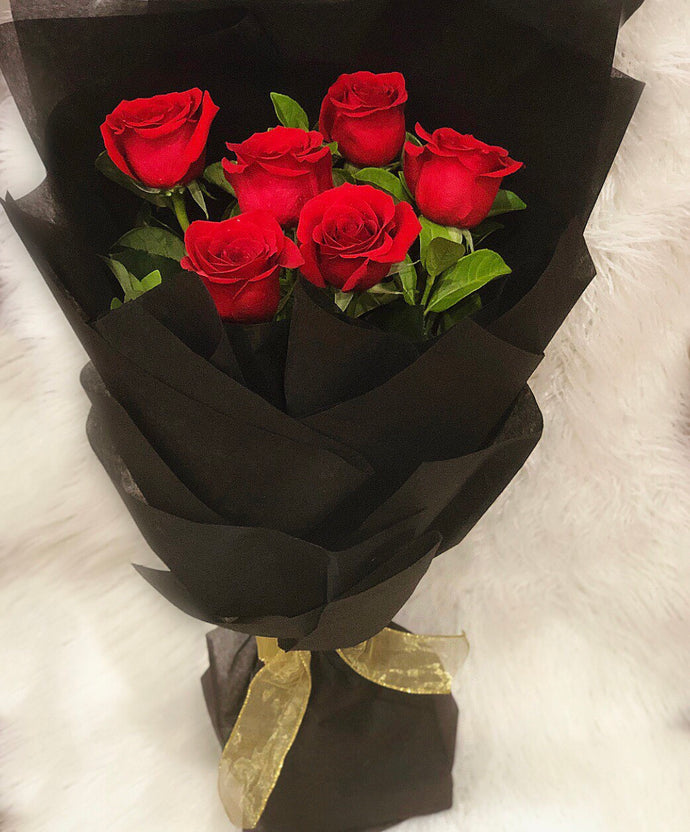 6 Red roses (Fresh)