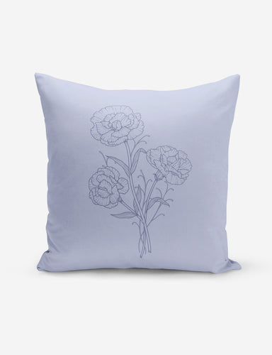 Pastel Blue Carnation Pillow
