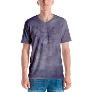 Smoke Print V-Neck T-Shirt (Purple)
